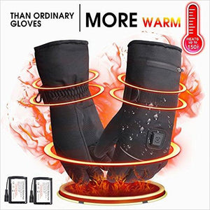 Rechargeable Winter Waterproof Electric Heated Gloves-Sports - www.Gifteee.com - Cool Gifts \ Unique Gifts - The Best Gifts for Men, Women and Kids of All Ages