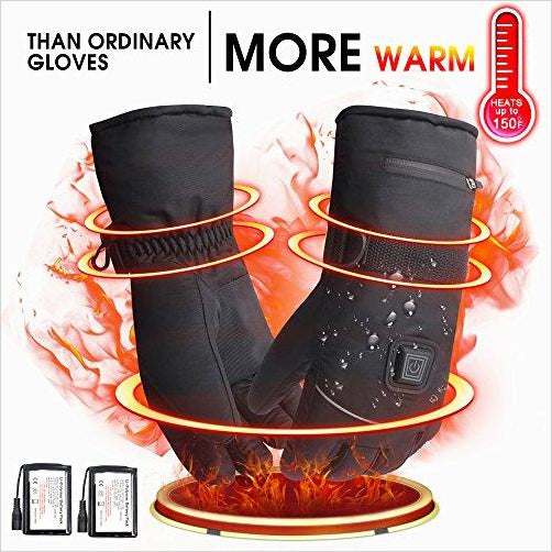 Rechargeable Winter Waterproof Electric Heated Gloves - Gifteee. Find cool & unique gifts for men, women and kids