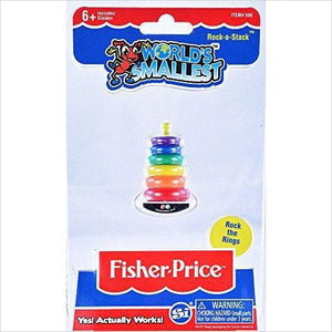 Worlds Smallest Fisher Price Classic Rock-a-Stack-Toy - www.Gifteee.com - Cool Gifts \ Unique Gifts - The Best Gifts for Men, Women and Kids of All Ages