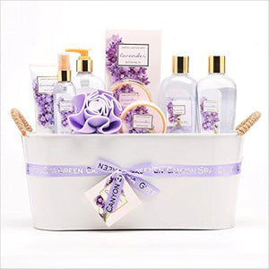 Luxury Lavender Gift Basket - Find unique love and romance gifts, special gifts for Valentine's day, beautiful gifts for your girl friend to spread love into the air at Gifteee Cool gifts, Unique Gifts for Valentine's day