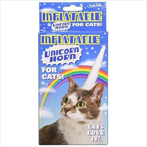 Inflatable Unicorn Horn for Cats-Toy - www.Gifteee.com - Cool Gifts \ Unique Gifts - The Best Gifts for Men, Women and Kids of All Ages