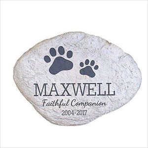 Personalized Pet Memorial Garden Stone-Lawn & Patio - www.Gifteee.com - Cool Gifts \ Unique Gifts - The Best Gifts for Men, Women and Kids of All Ages