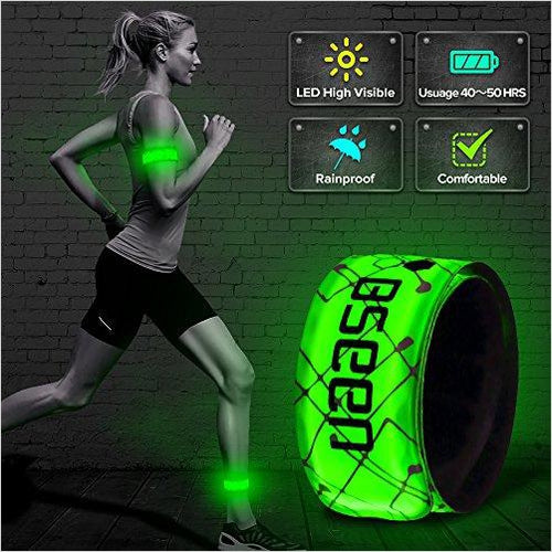 Reflective Band - Patented Heat sealed design, Glow in the Dark, Water/sweat resistant - Find the perfect gift for a sport fan, gifts for health fitness fans at Gifteee Cool gifts, Unique Gifts for wellness, sport and fitness
