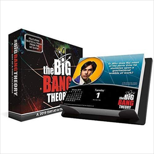 2019 The Big Bang Theory Day-at-a-Time Calendar-Book - www.Gifteee.com - Cool Gifts \ Unique Gifts - The Best Gifts for Men, Women and Kids of All Ages