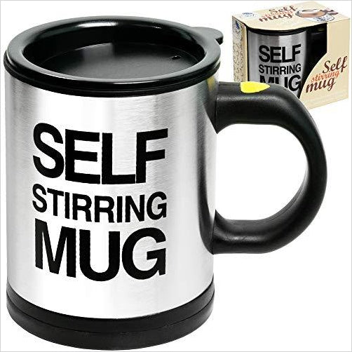 Self Stirring Coffee Mug - Find the newest innovations, cool gadgets to use at home, at the office or when traveling. amazing tech gadgets and cool geek gadgets at Gifteee Cool gifts, Unique Tech Gadgets and innovations