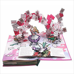 Alice's Adventures in Wonderland: A Pop-up Book - Find special gifts for girls and tweens age 5-11 year old, gifts for your daughter, gifts for your kids birthday or Christmas, gifts for a young princess, gifts for you children classmates and friends at Gifteee Unique Gifts, Cool gifts for girls