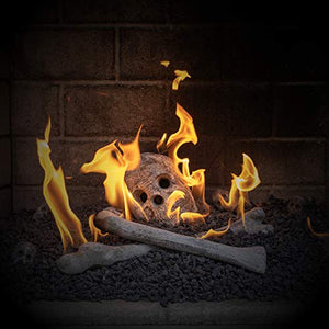 Ceramic Fireplace Skull - Gifteee. Find cool & unique gifts for men, women and kids