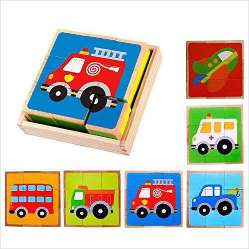 Vehicle Block Chunky Wooden Puzzle for Toddlers - Gifteee. Find cool & unique gifts for men, women and kids