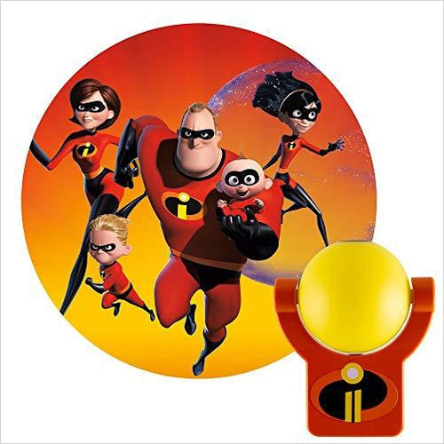The Incredibles Superhero Projector Night Light - Collector's Edition - Find unique gifts for superhero fans, the avengers, DC, marvel fans all super villians and super heroes gift ideas, games collectibles and gadgets at Gifteee Cool gifts, Unique Gifts for comic book fans