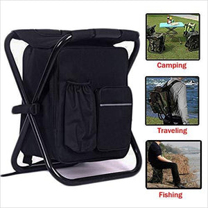 Cooler Backpack That is also a Folding Chair-Sports - www.Gifteee.com - Cool Gifts \ Unique Gifts - The Best Gifts for Men, Women and Kids of All Ages