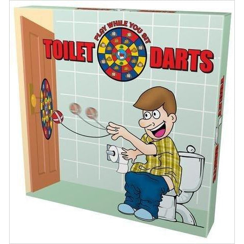 Island Dogs Toilet Darts Play While You Sit-Toy - www.Gifteee.com - Cool Gifts \ Unique Gifts - The Best Gifts for Men, Women and Kids of All Ages