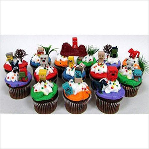 Minecraft Cupcake Topper Set - Find unique gifts that will get you kids eating well and eating healthy with unique foodie gifts for kids dinner and the kitchen at Gifteee Cool gifts, Unique Gifts that will make kids enjoy eating