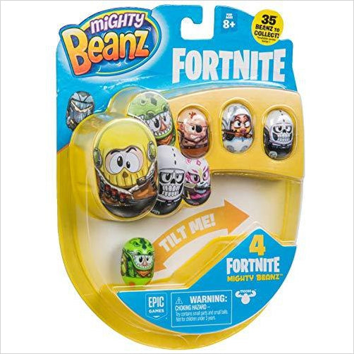 MIGHTY BEANZ, Fortnite 4 Pack - Find Fortnite Battle Royale and Fortnite Chapter 2 Gifts for Fortnite Fans, and Epic games official gifts at Gifteee Unique Gifts, Cool gifts for kids and gamers