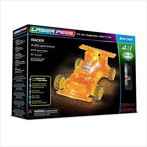 Racer 4-in-1 - Light Up Bricks - Find unique gifts for boys age 5-11 year old, gifts for your son, gifts for your kids birthday or Christmas, gifts for you children classmates and friends at Gifteee Unique Gifts, Cool gifts for boys