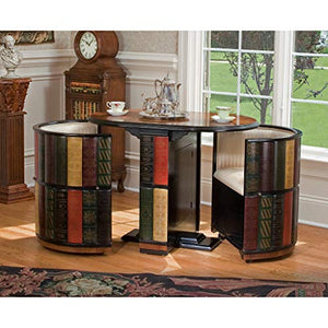 Library Nested Table and Chair Set with Storage