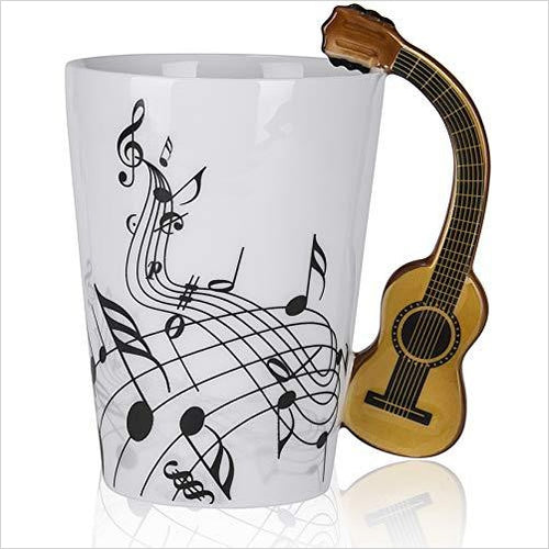 Guitar Ceramic Cup-Kitchen - www.Gifteee.com - Cool Gifts \ Unique Gifts - The Best Gifts for Men, Women and Kids of All Ages