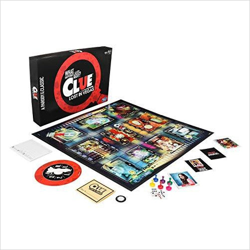 Clue - Lost in Vegas - Parody Version of the Classic Game - Find funny gift ideas, the best gag gifts, gifts for pranksters that will make everybody laugh out loud at Gifteee Cool gifts, Funny gag Gifts for adults and kids