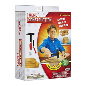 Real Construction Starter Set - Find unique arts and crafts gifts for creative people who love a new hobby or expand a current hobby, art accessories, craft kits and models at Gifteee Cool gifts, Unique Gifts for arts and crafts lovers
