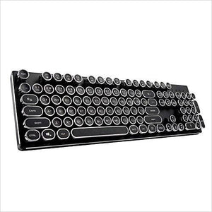 Steampunk Mechanical Qwerty Keyboard with LED Backlit - Gifteee. Find cool & unique gifts for men, women and kids