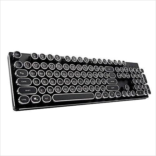Steampunk Mechanical Qwerty Keyboard with LED Backlit-CE - www.Gifteee.com - Cool Gifts \ Unique Gifts - The Best Gifts for Men, Women and Kids of All Ages