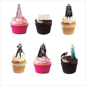 Game of Thrones Edible Cupcake Toppers-Cupcake Toppers - www.Gifteee.com - Cool Gifts \ Unique Gifts - The Best Gifts for Men, Women and Kids of All Ages