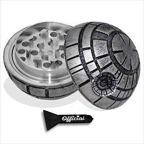 Death Star Herb Grinder - Weed Grinder With BONUS Kief Scraper-Kitchen - www.Gifteee.com - Cool Gifts \ Unique Gifts - The Best Gifts for Men, Women and Kids of All Ages