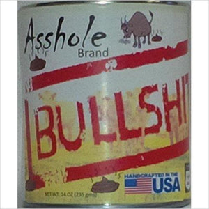 Can of Bullshit - Find funny gift ideas, the best gag gifts, gifts for pranksters that will make everybody laugh out loud at Gifteee Cool gifts, Funny gag Gifts for adults and kids
