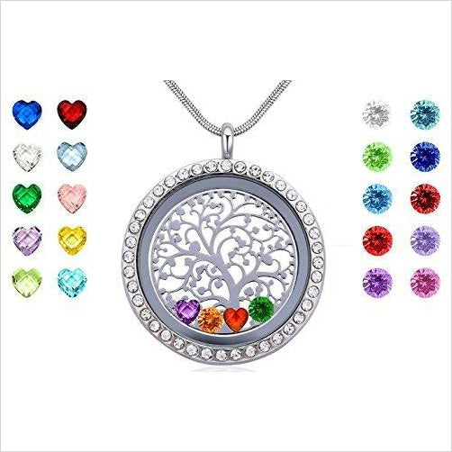 Floating Charms Living Memory Locket with 24 Birthstones - Find unique love and romance gifts, special gifts for Valentine's day, beautiful gifts for your girl friend to spread love into the air at Gifteee Cool gifts, Unique Gifts for Valentine's day