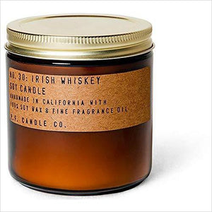 Irish Whiskey Soy Candle-Home - www.Gifteee.com - Cool Gifts \ Unique Gifts - The Best Gifts for Men, Women and Kids of All Ages