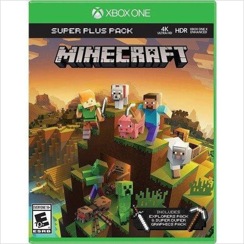 Minecraft Super Plus Pack – Xbox One - Find unique gifts for gamers Xbox, Play Stations, PS, PSP, Nintendo switch and more at Gifteee Unique Gifts, Cool gifts for gamers