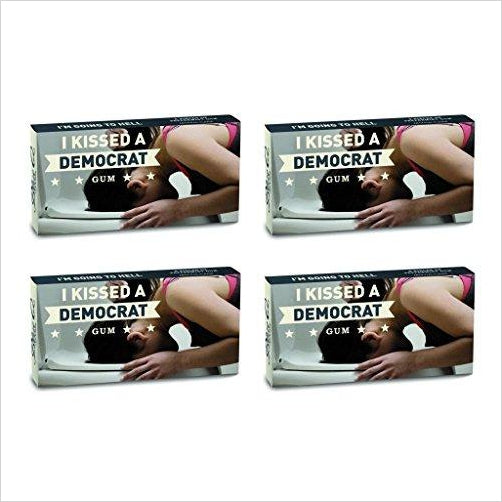 I Kissed A Democrat Peppermint Flavored Gum - Gifteee. Find cool & unique gifts for men, women and kids