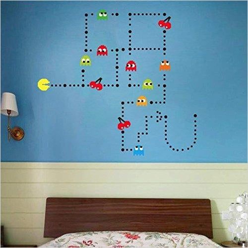 Pac-Man Game Wall Decal - Find unique decor gifts for the office and workplace, get cool gadgets for your office desk and cubicle at Gifteee Cool gifts, Unique decor Gifts for the office and workplace