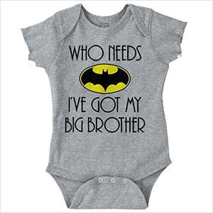 Who Need Batman Baby Romper Bodysuit-Apparel - www.Gifteee.com - Cool Gifts \ Unique Gifts - The Best Gifts for Men, Women and Kids of All Ages
