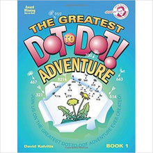The Greatest Dot-to-Dot Adventur-book - www.Gifteee.com - Cool Gifts \ Unique Gifts - The Best Gifts for Men, Women and Kids of All Ages