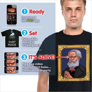 Animated Haunted Mansion Portrait Shirt - Morphsuits - Find the most unique and unusual gifts. Weird gifts ideas that you never saw before. unusual gadgets, unique products that simply very odd at Gifteee Odd gifts, Unusual Gift ideas
