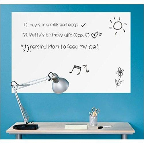 Peel and Stick Dry Erase Decal Sheet-Office Product - www.Gifteee.com - Cool Gifts \ Unique Gifts - The Best Gifts for Men, Women and Kids of All Ages