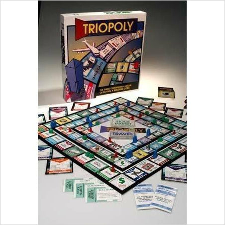 Triopoly Monopoly Style Game Board Game - Gifteee. Find cool & unique gifts for men, women and kids
