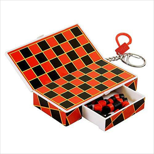 Pocket Game Checkers on Key Chain-Toy - www.Gifteee.com - Cool Gifts \ Unique Gifts - The Best Gifts for Men, Women and Kids of All Ages