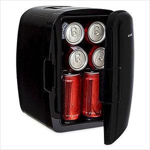 Portable 8 Can Mini Fridge Cooler & Warmer - Find unique decor gifts for the office and workplace, get cool gadgets for your office desk and cubicle at Gifteee Cool gifts, Unique decor Gifts for the office and workplace