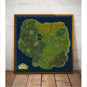 Fortnite Map Wall Art - Gifteee - Unique Gift Ideas for Adults & Kids of all ages. The Best Birthday Gifts & Christmas Gifts.