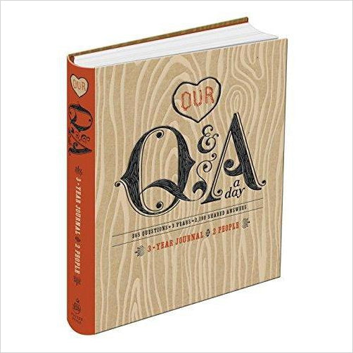Our Q&A a Day: 3-Year Journal for 2 People - Gifteee. Find cool & unique gifts for men, women and kids