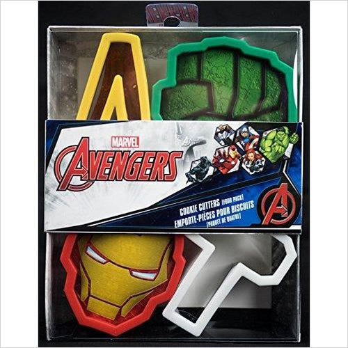 Marvel Avengers Cookie Cutters - Iron Man, Hulk, Thor Hammer, and Signature