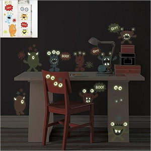Glow in the Dark Monsters Wall Decals