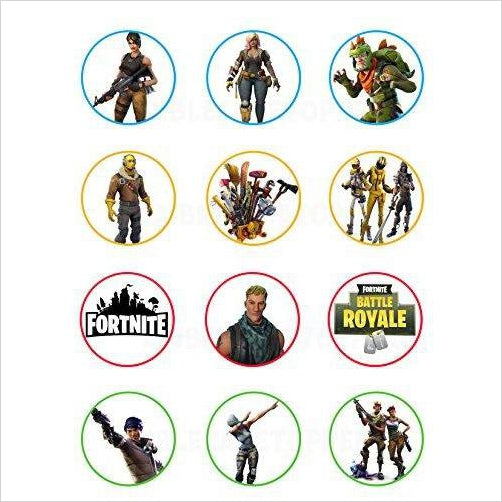 Fornite Edible Cupcake Toppers - Find unique gifts that will get you kids eating well and eating healthy with unique foodie gifts for kids dinner and the kitchen at Gifteee Cool gifts, Unique Gifts that will make kids enjoy eating