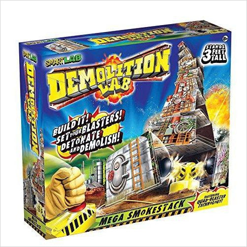 Demolition Lab: Mega SmokeStack - Find unique gifts for a newborn baby and cool gifts for toddlers ages 0-4 year old, gifts for your kids birthday or Christmas, special baby shower gifts and age reveal gifts at Gifteee Unique Gifts, Cool gifts for babies and toddlers
