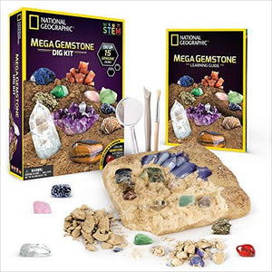 Mega Gemstone Mine – Dig Up 15 Real Gems-Toy - www.Gifteee.com - Cool Gifts \ Unique Gifts - The Best Gifts for Men, Women and Kids of All Ages