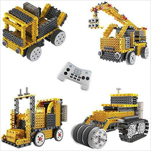 Construction Crew Robot Vehicle Building Kit-Toy - www.Gifteee.com - Cool Gifts \ Unique Gifts - The Best Gifts for Men, Women and Kids of All Ages