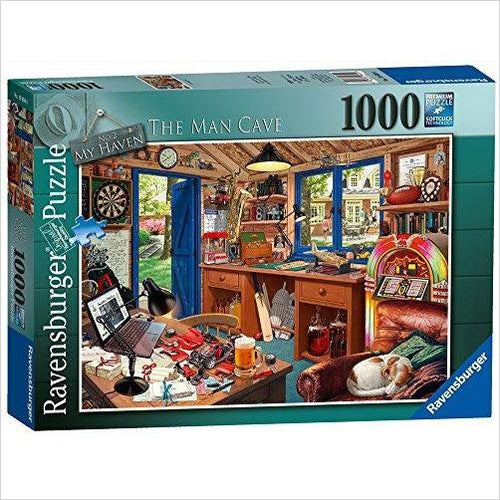 The Man Cave 1000 Piece Jigsaw Puzzle - Gifteee. Find cool & unique gifts for men, women and kids