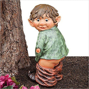Naughty Garden Elf Yard-Lawn & Patio - www.Gifteee.com - Cool Gifts \ Unique Gifts - The Best Gifts for Men, Women and Kids of All Ages