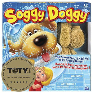 Soggy Doggy Board Game for Kids with Interactive Dog Toy - Find unique gifts for a newborn baby and cool gifts for toddlers ages 0-4 year old, gifts for your kids birthday or Christmas, special baby shower gifts and age reveal gifts at Gifteee Unique Gifts, Cool gifts for babies and toddlers